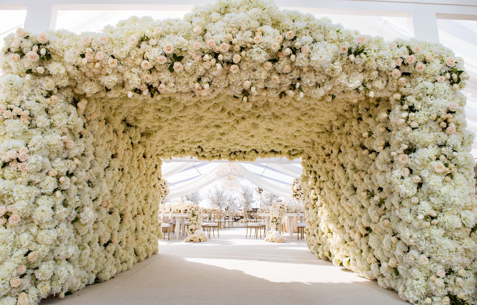Event Chic Designs flower arch wedding entrance