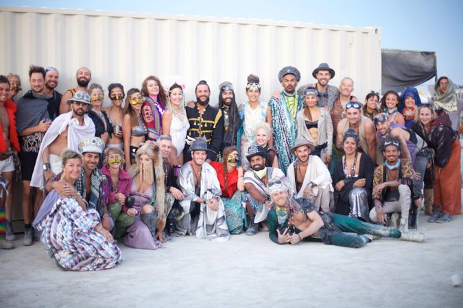 Burning Man wedding party