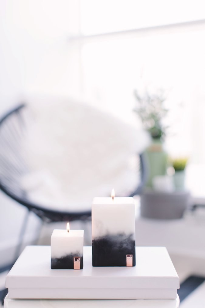 Marble Lava Candles