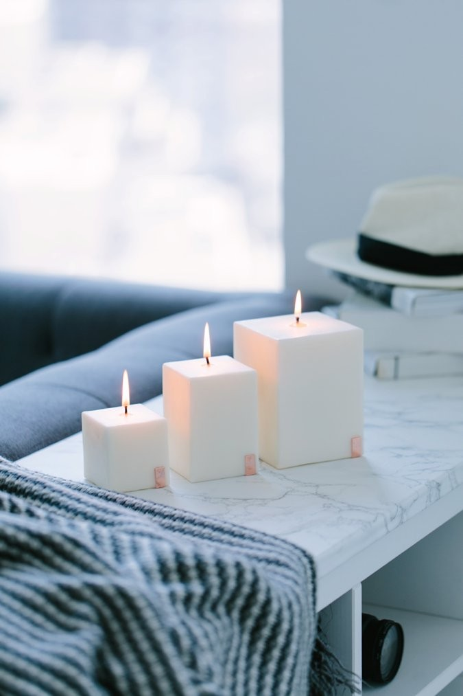 Cream Lava Candles collection