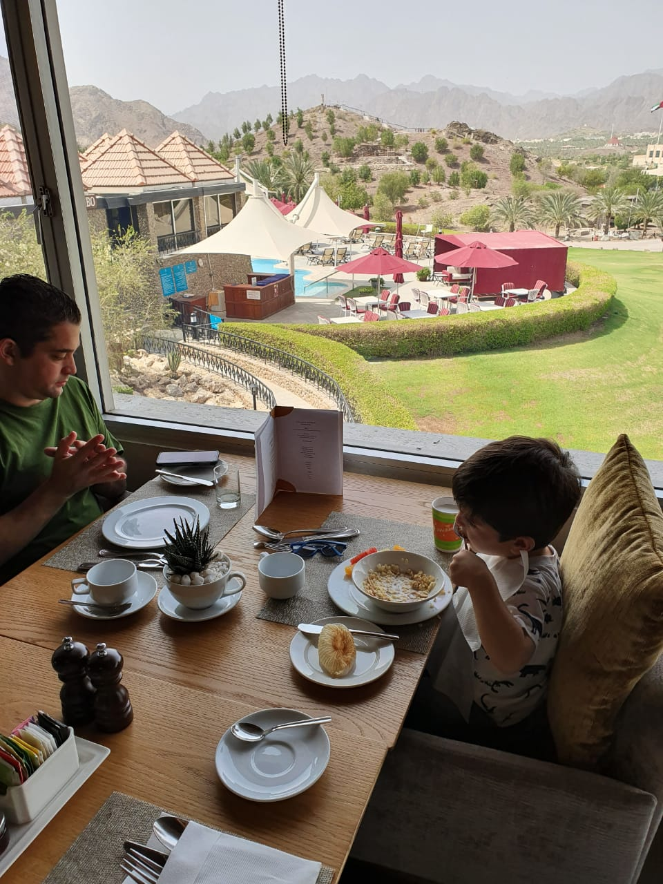 Breakfast view at JA Hatta Fort Hotel