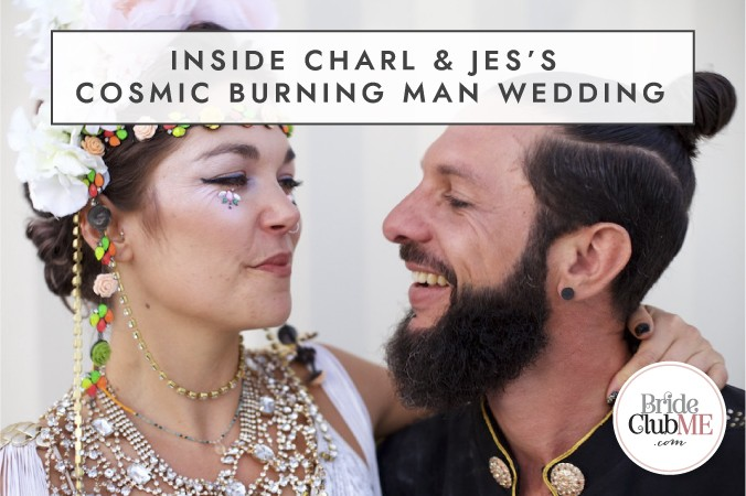 Inside Charl & Jes's Cosmic Burning Man Wedding