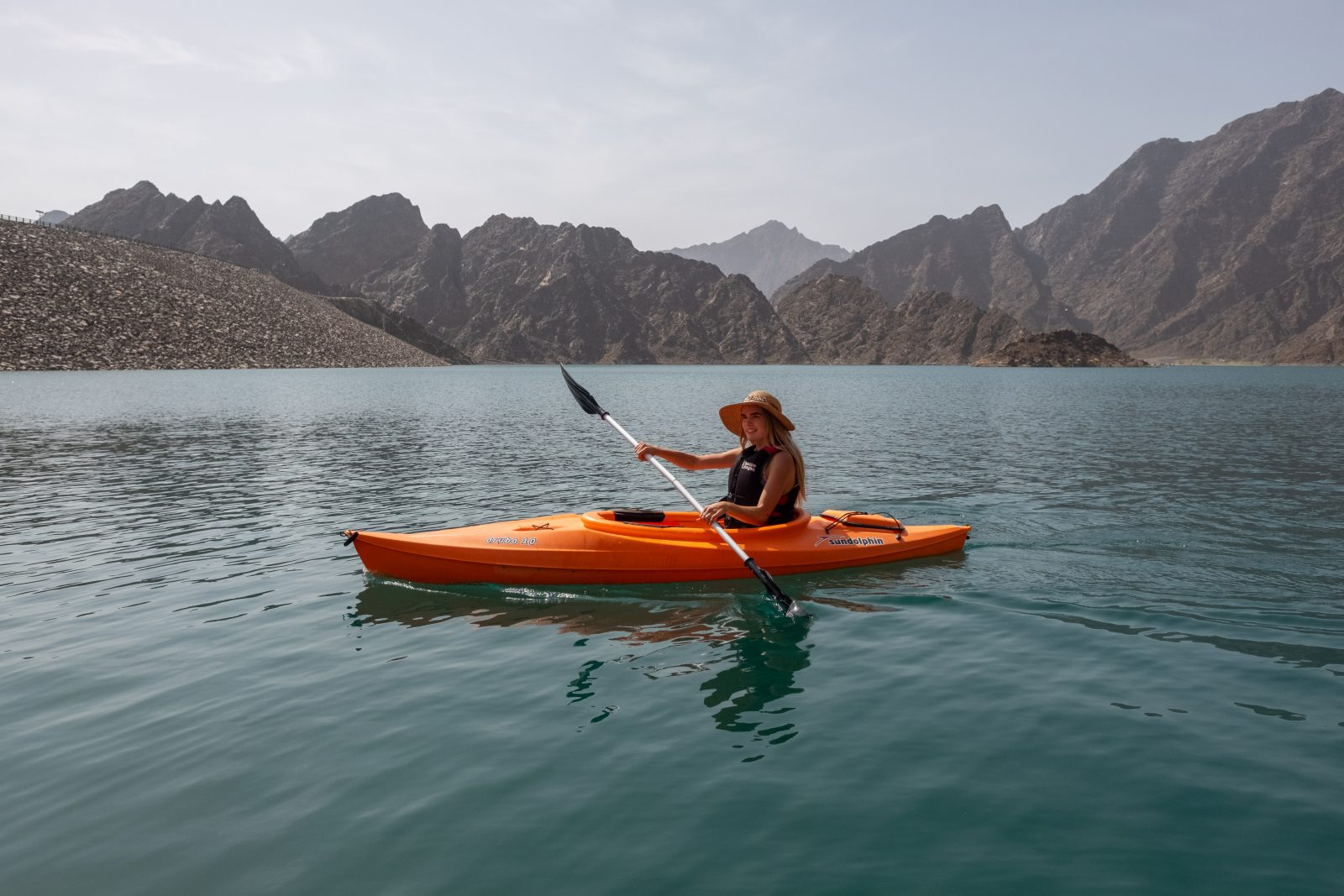 Kayaking at JA Hatta Fort Hotel