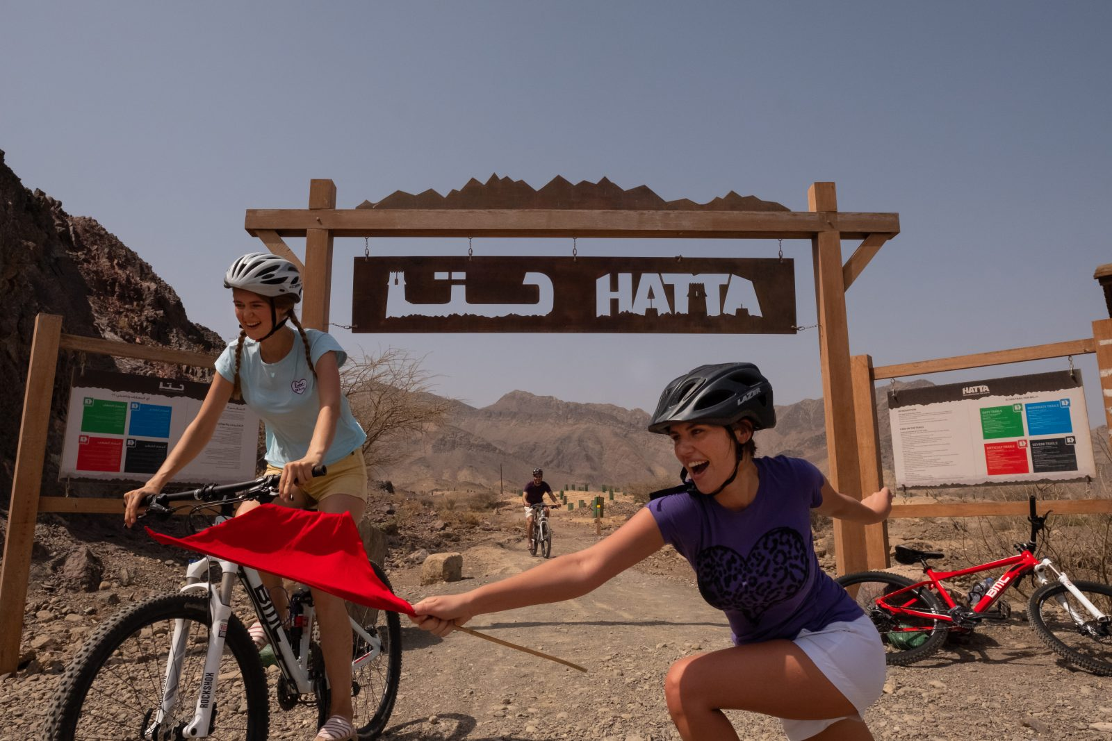 Mountain biking at JA Hatta Fort Hotel