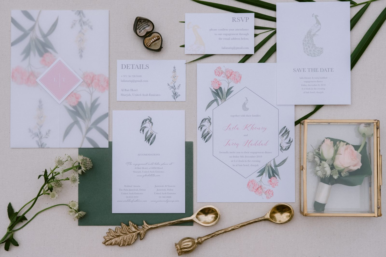 Wedding invitation and details inspiration