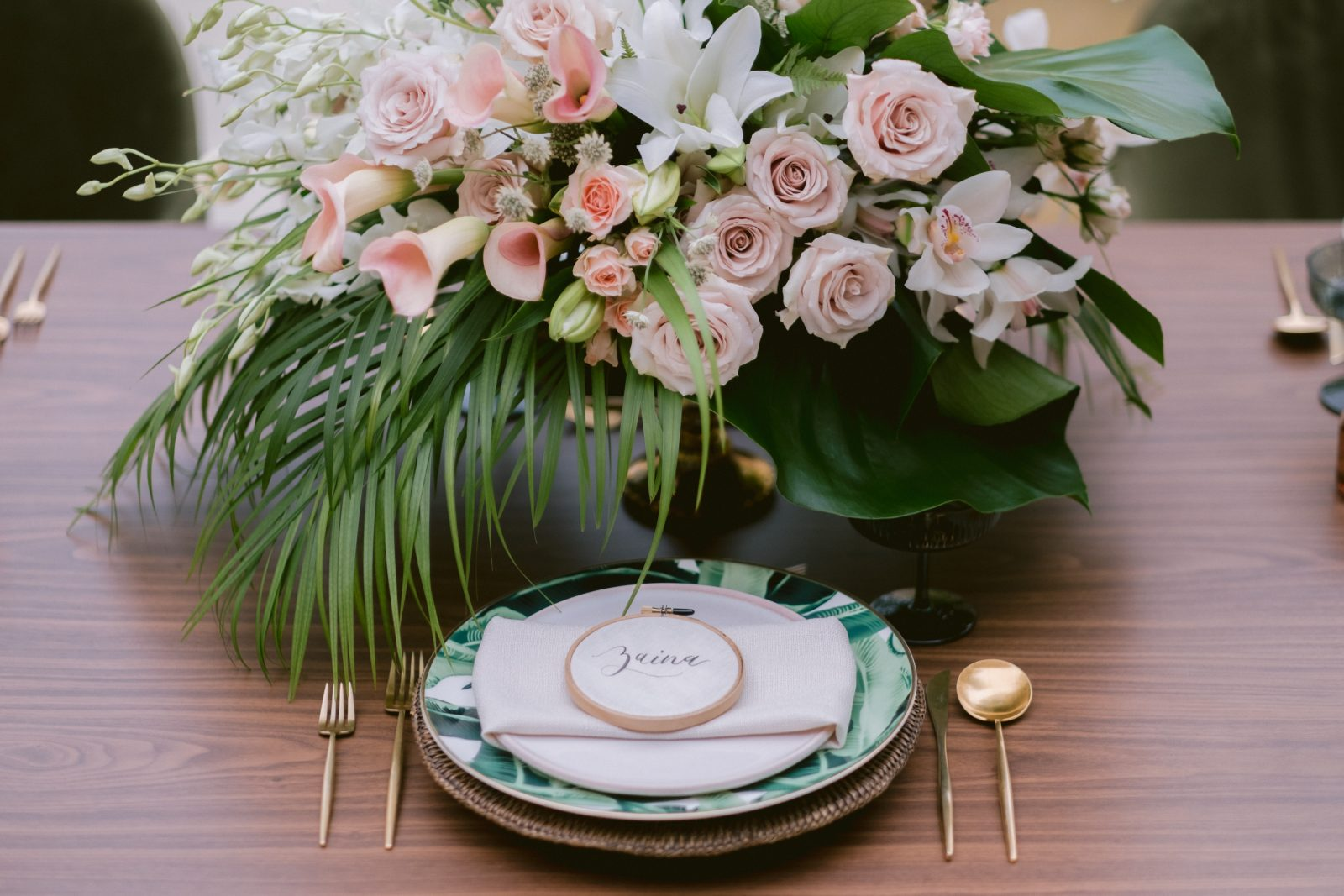 Wedding place setting inspiration