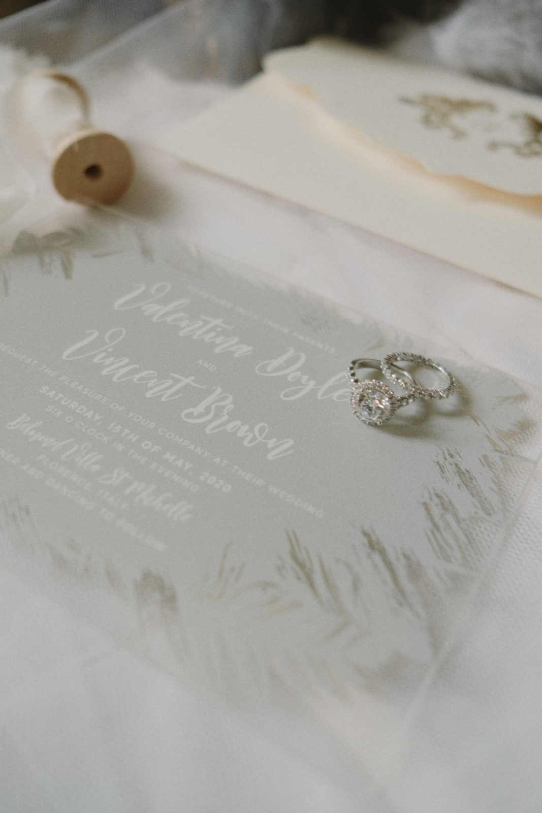 Wedding invitation and rings inspiration