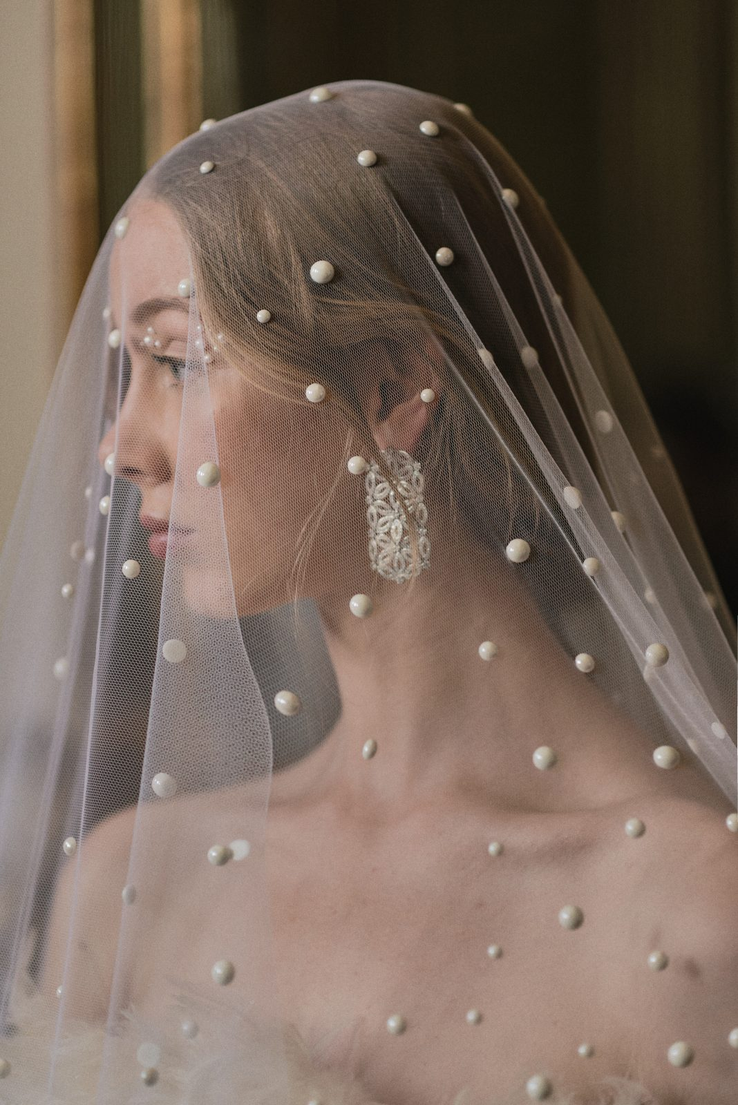Swan Lake inspired Bride with pearl detailed veil