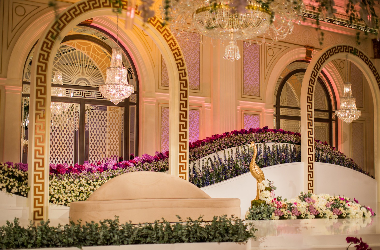 Event Chic Designs gold wedding set up