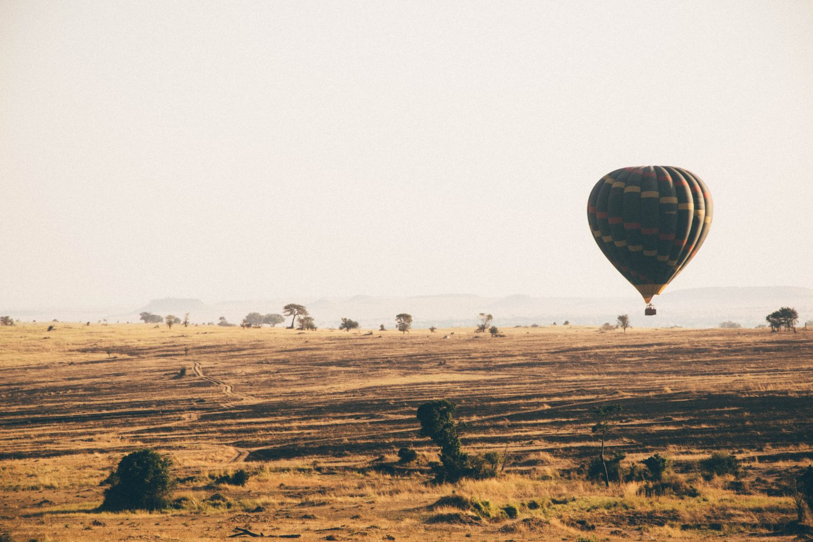 Hot air balloon in Tanzania