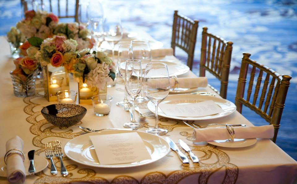 Rosewood Abu Dhabi wedding table set up