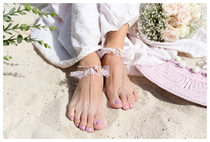 Quite Quaint Brides beach lace bridal sandals