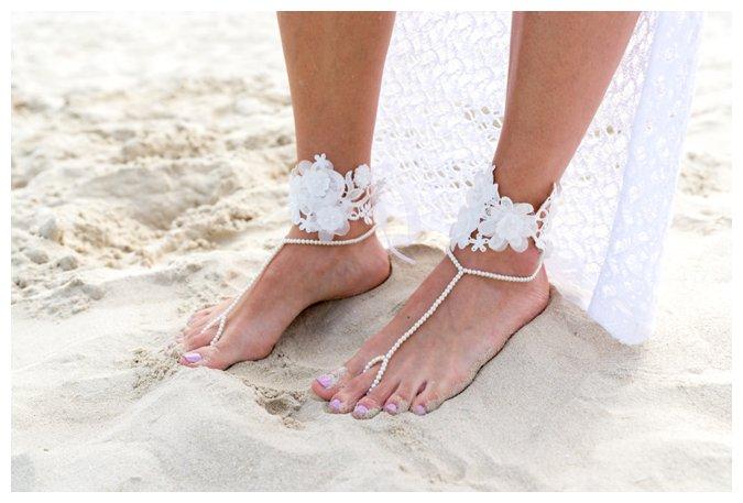 Quite Quaint Brides beach sandals