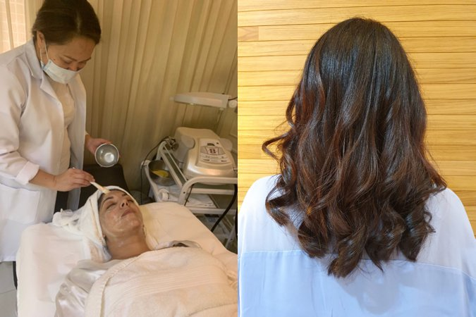 Rio's facial and blow dry at La Loge Salon