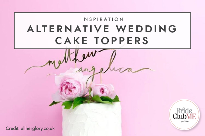 Inspiration: Alternative Wedding Cake Toppers