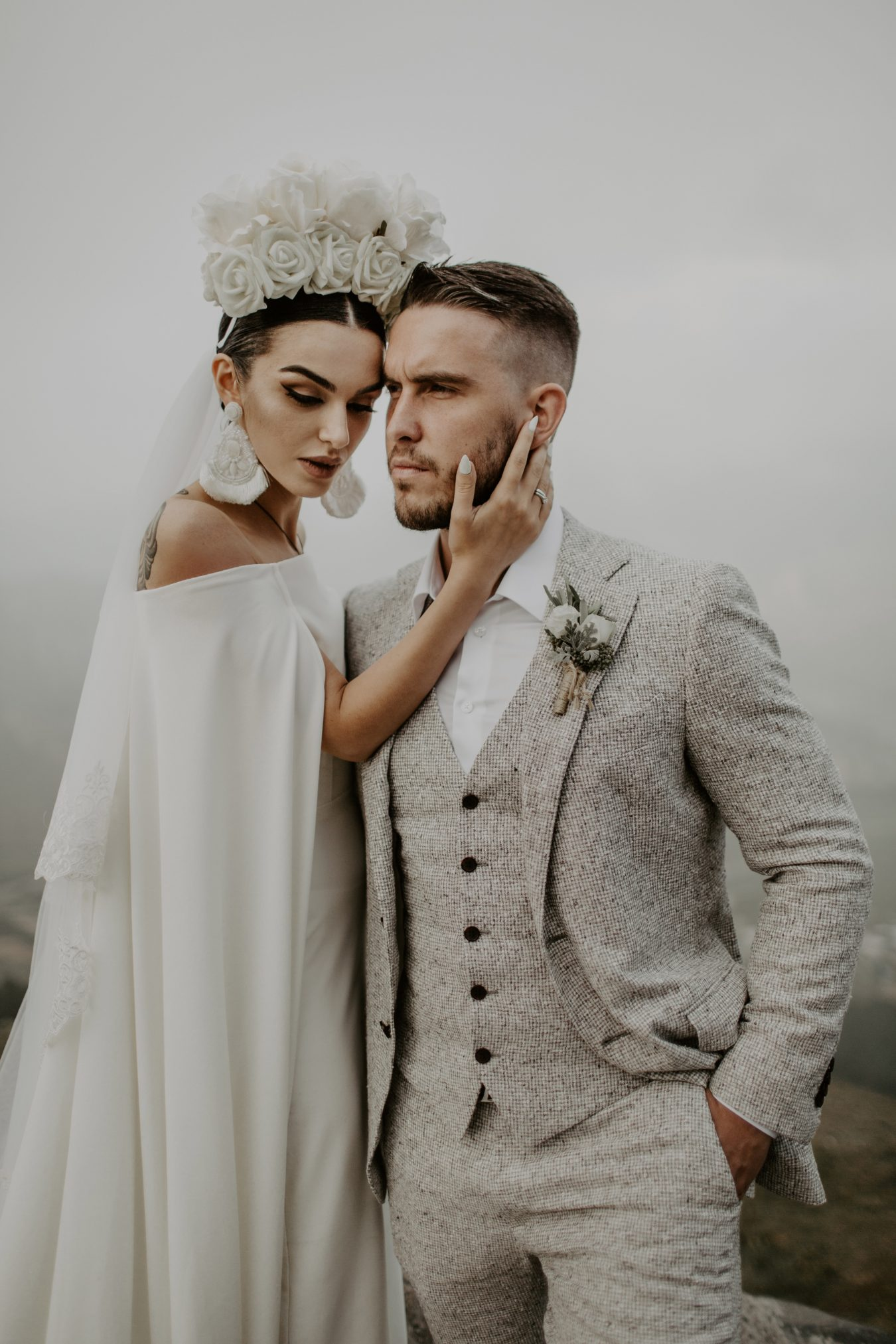 Khatia and Andrew wedding portrait