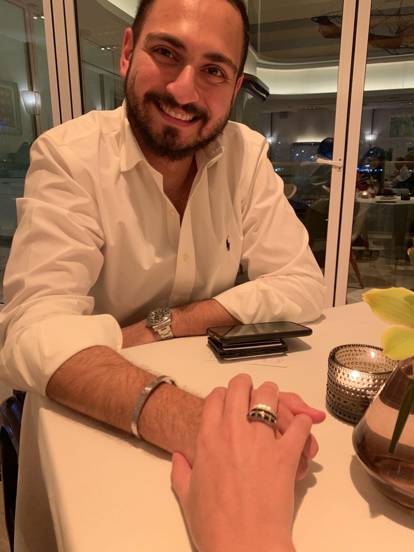 Dana and fiancé Hassan