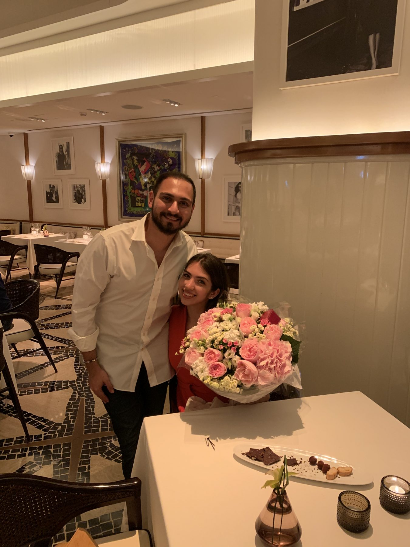 Dana and Hassan on the night of their engagement