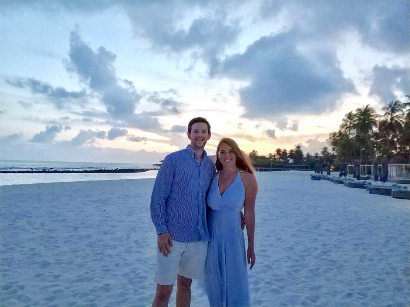 Maja and her husband on honeymoon