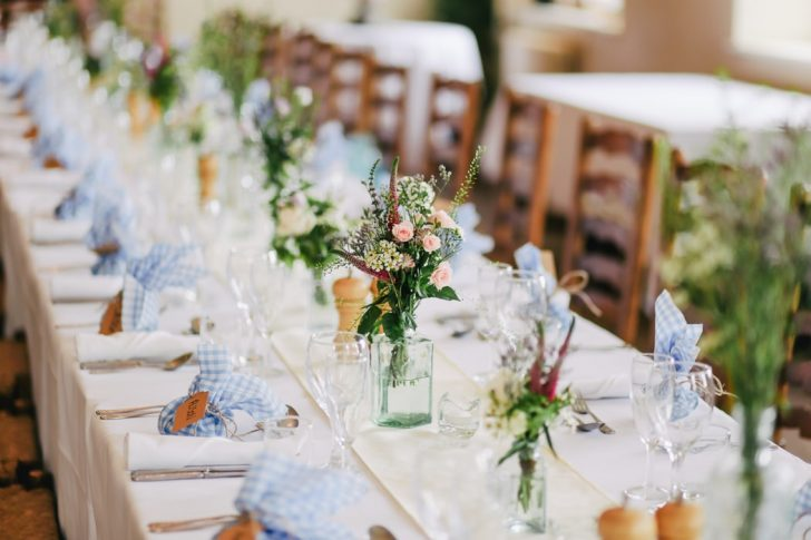 Vegan wedding table setting