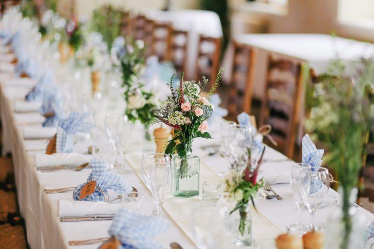 Vegan wedding table setting