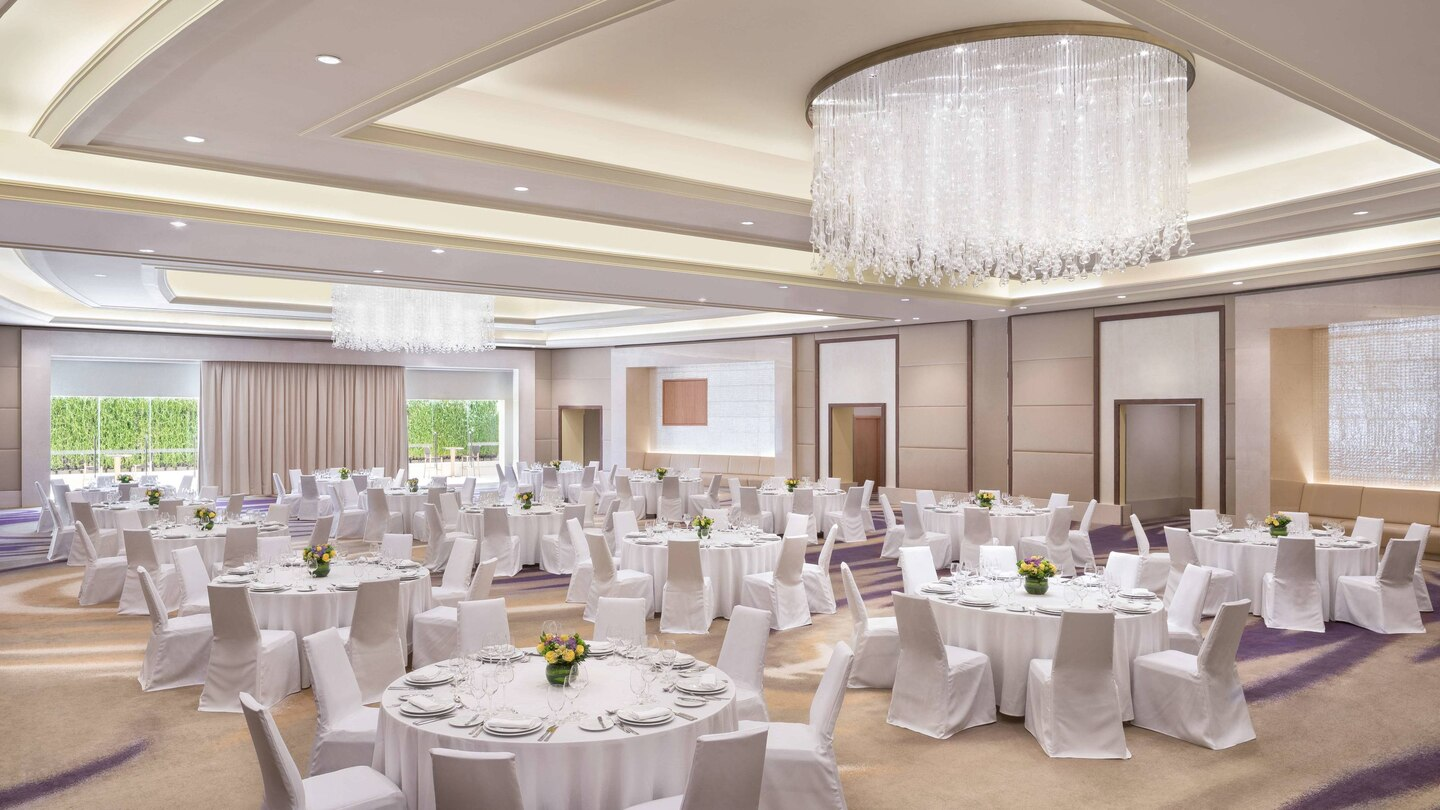 The Westin Abu Dhabi Ballroom wedding setup