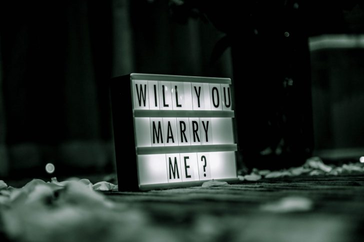 Will you marry me signage