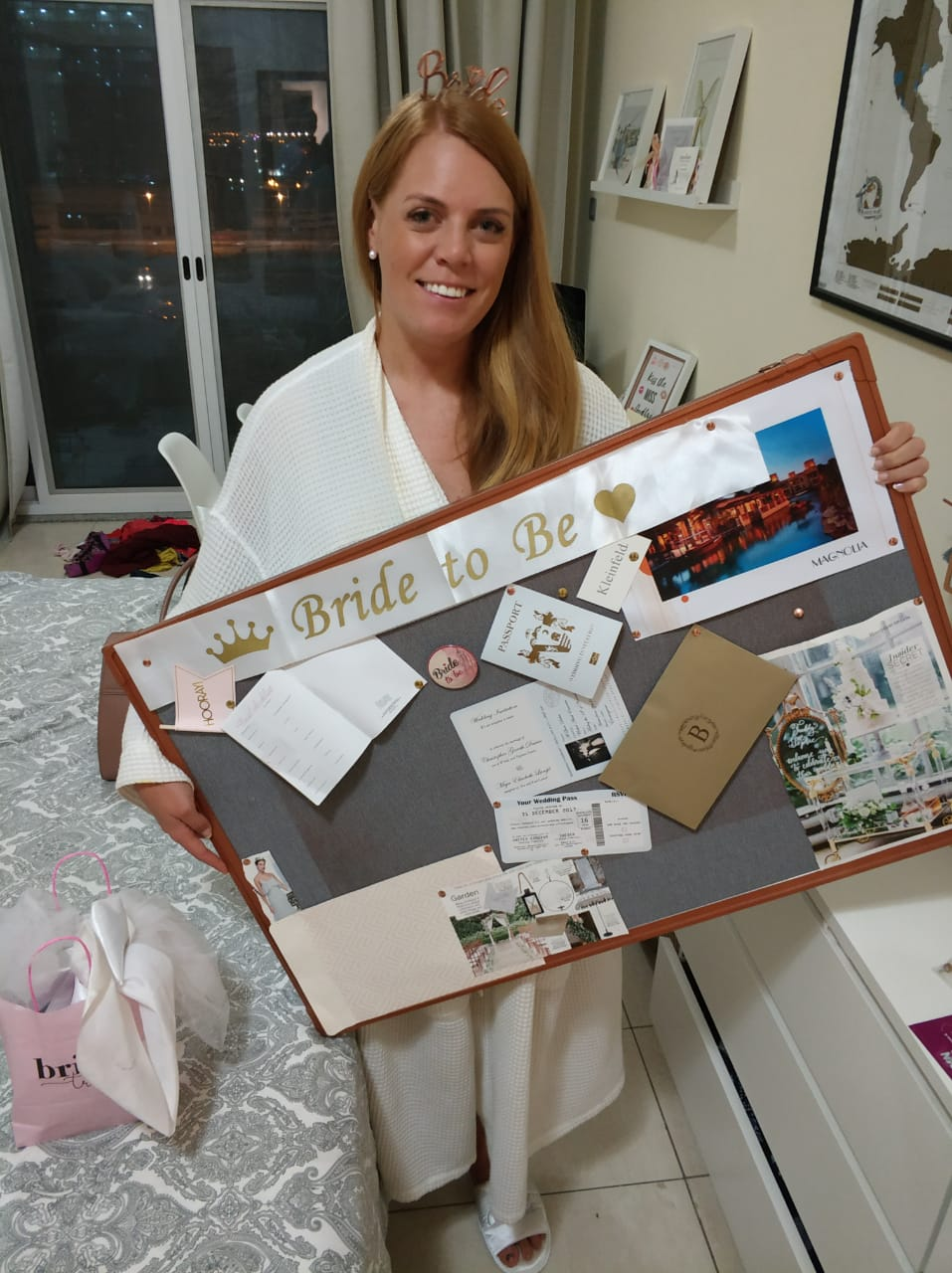 Real Bride Maja with her Bride to Be pin board