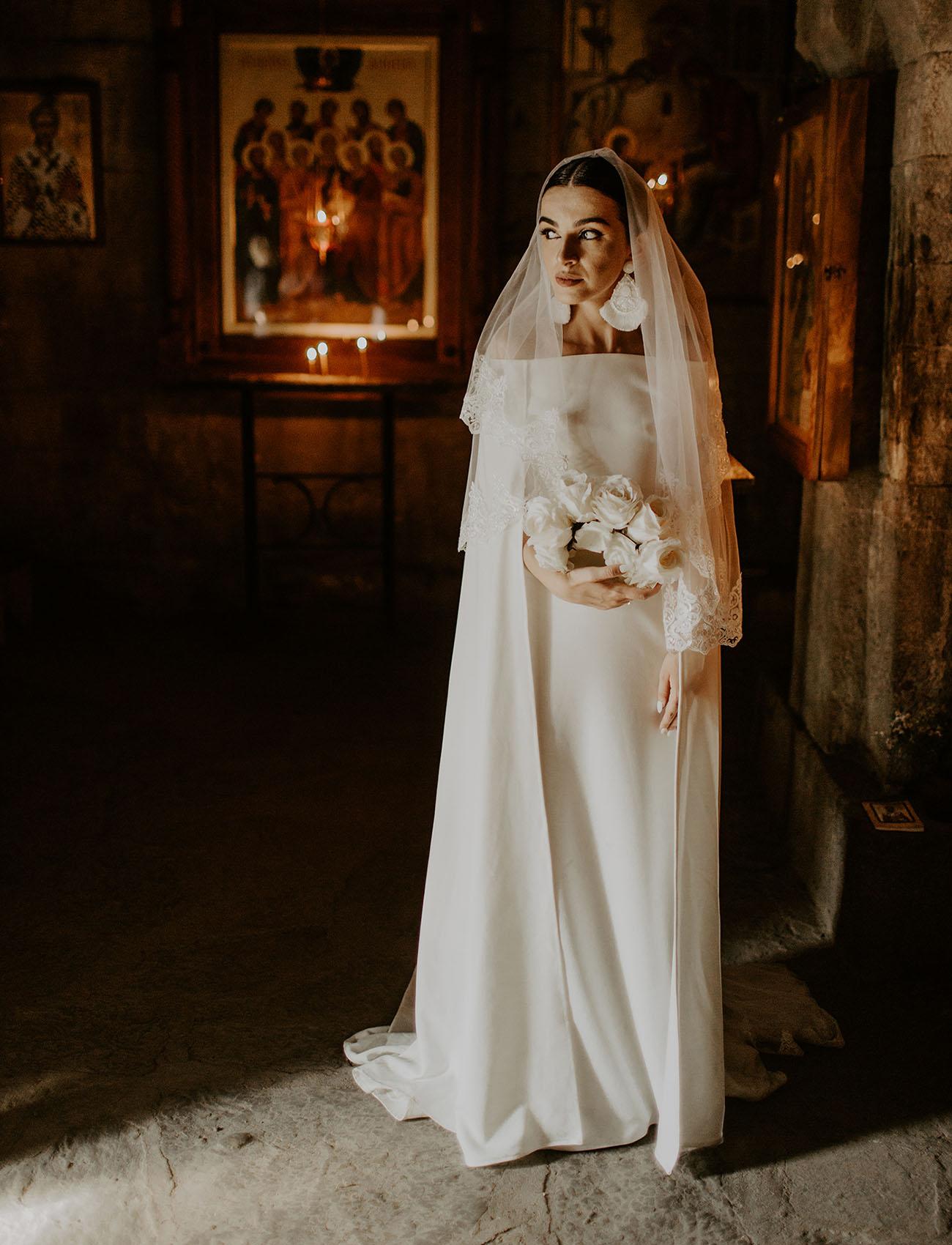 Khatia in bespoke wedding gown