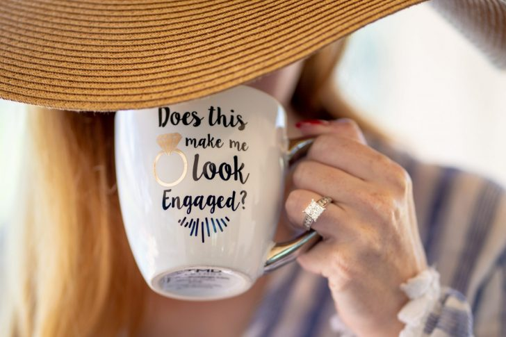 Engaged slogan mug