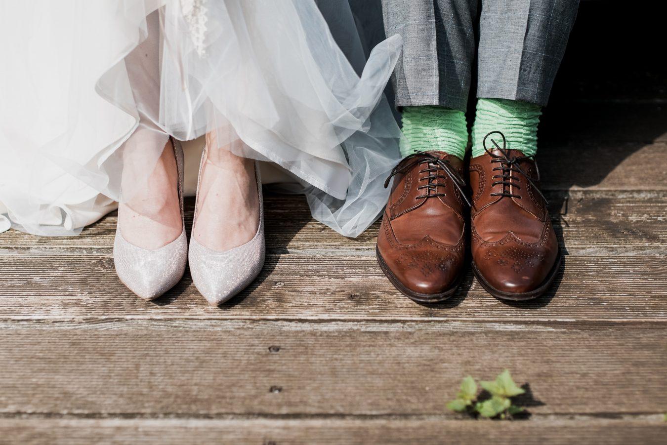 Bride & Groom shoe shot