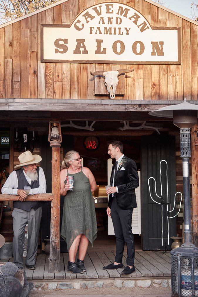 Western style Saloon at wedding venue