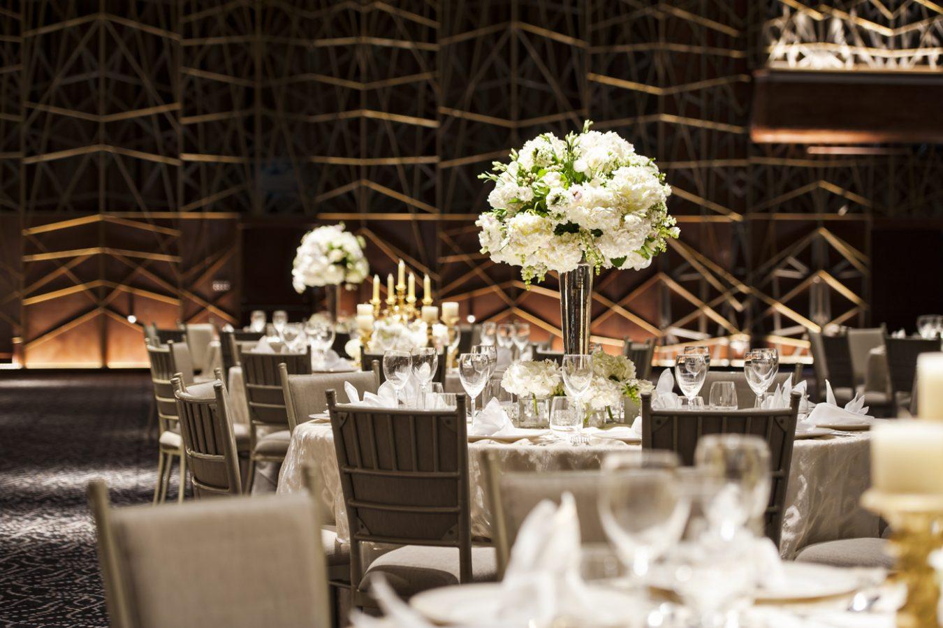 Wedding set up at Dubai Opera