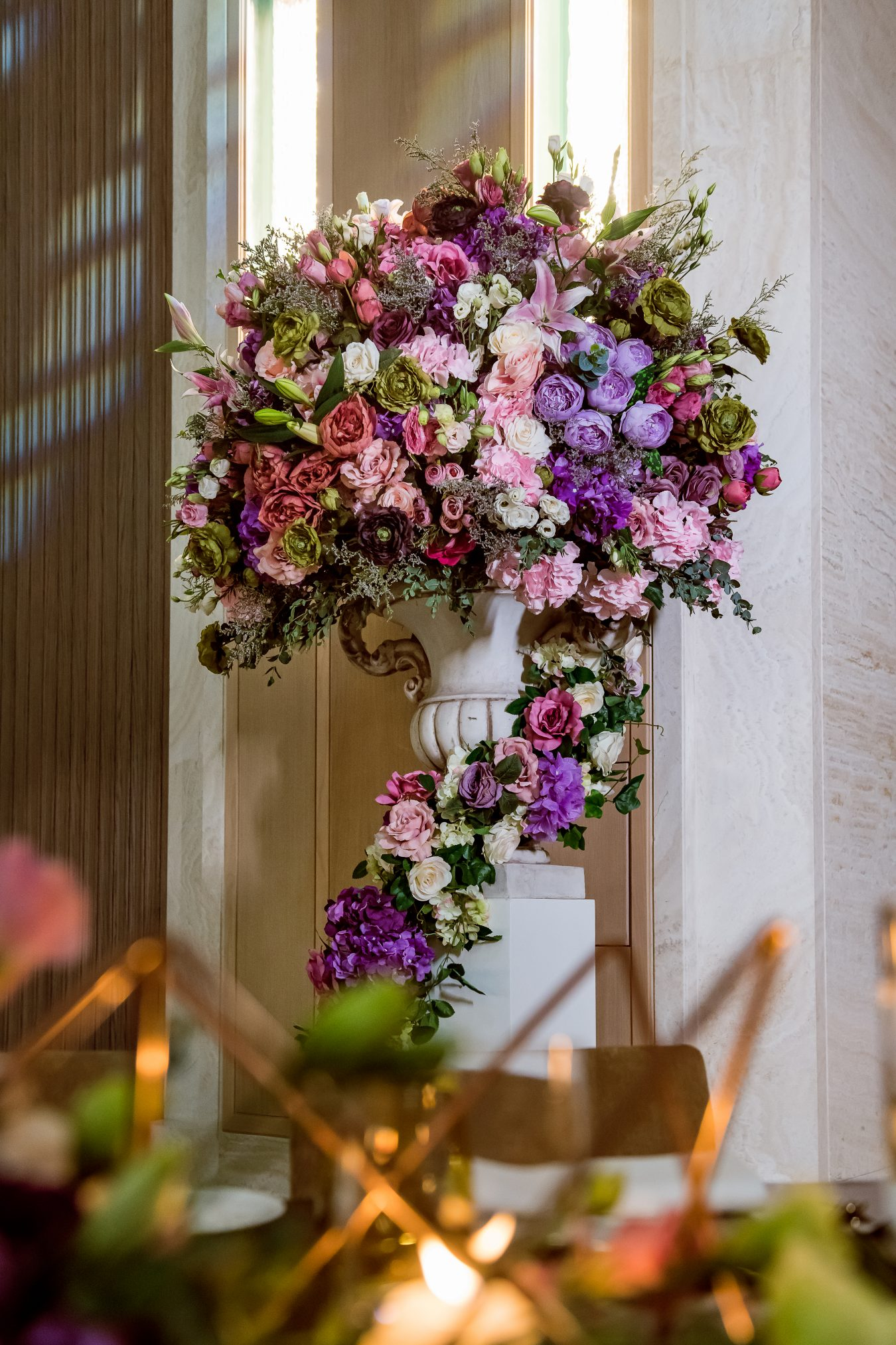 Statement flower display