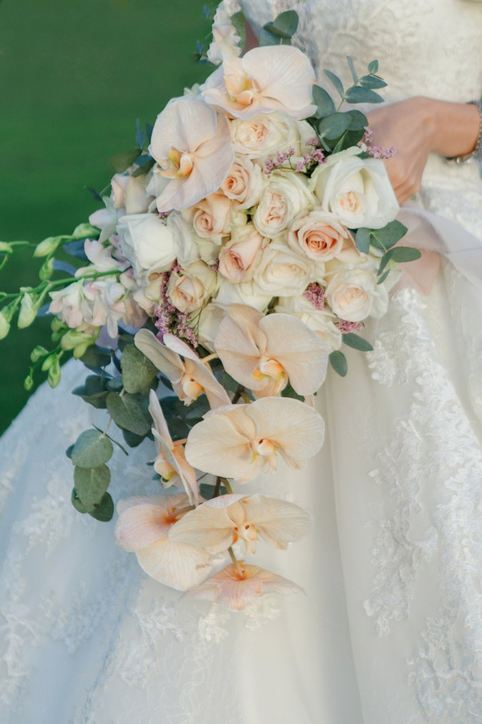 Up close shot of Bridal bouquet