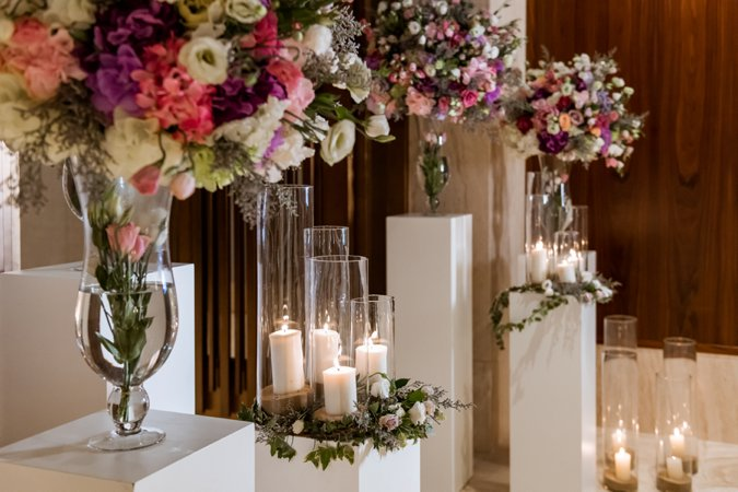 Mandarin Oriental Dubai flower display for wedding