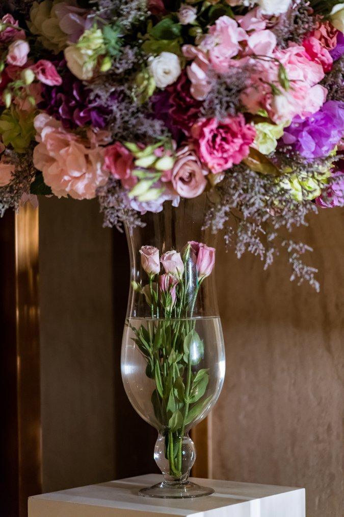 Beautiful rose flower display