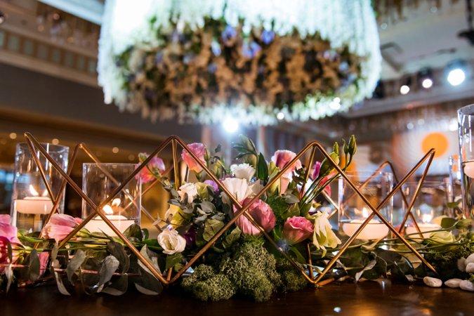 Low flower wedding centrepieces