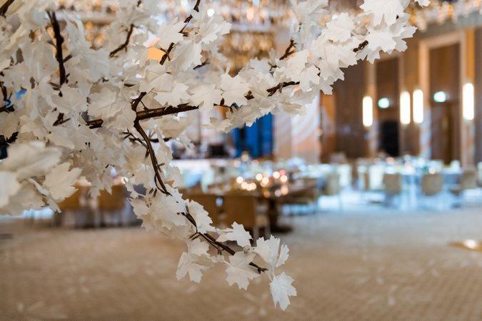 Blossom trees wedding ballroom