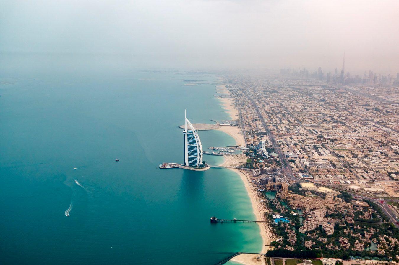 Dubai arial shot