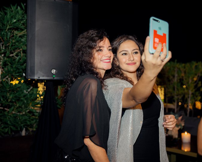 Guests taking a selfie