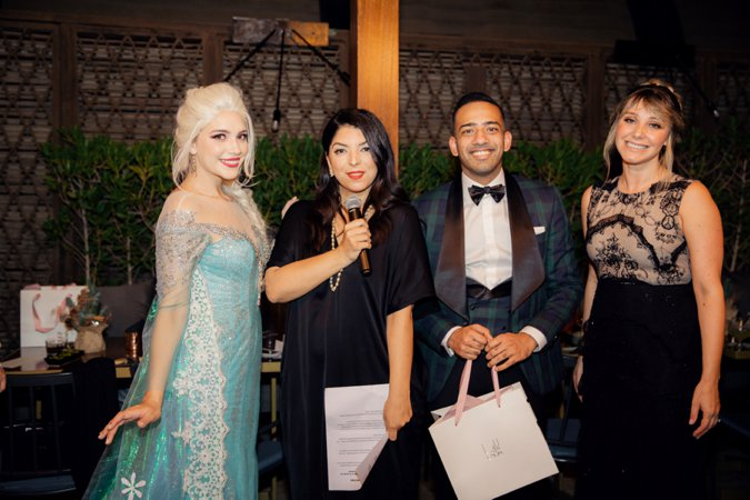 Bride Club ME Founder Rio with Princess Elsa and guests