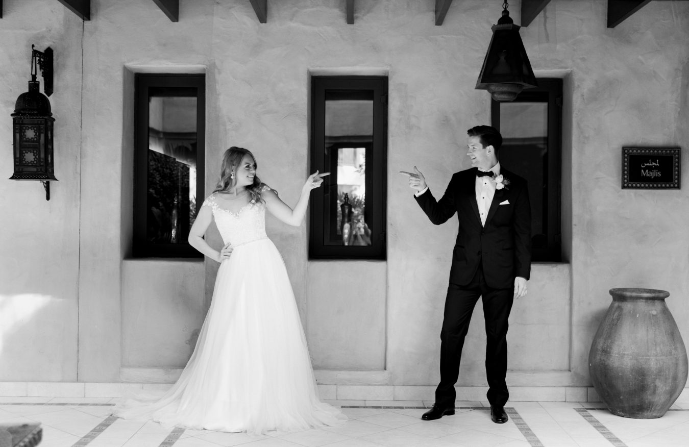 Maja and her husband on their wedding day